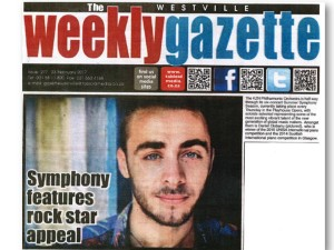 23FEB WESTVILLE WEEKLY GAZETTE Symphony features rock star appeal